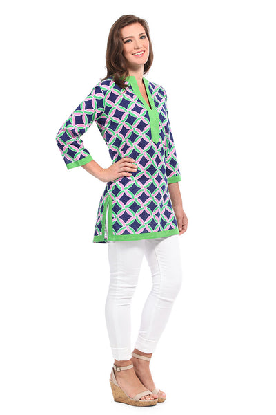 Savannah Navy Kurta Tunic