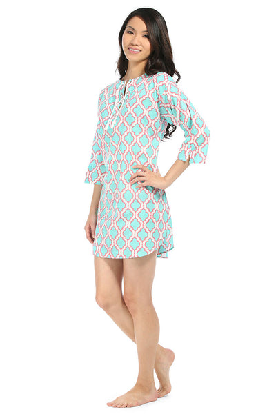 Chelsea Aqua Beach Cover Up