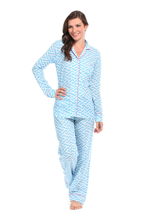Molly Blue Pajama Set