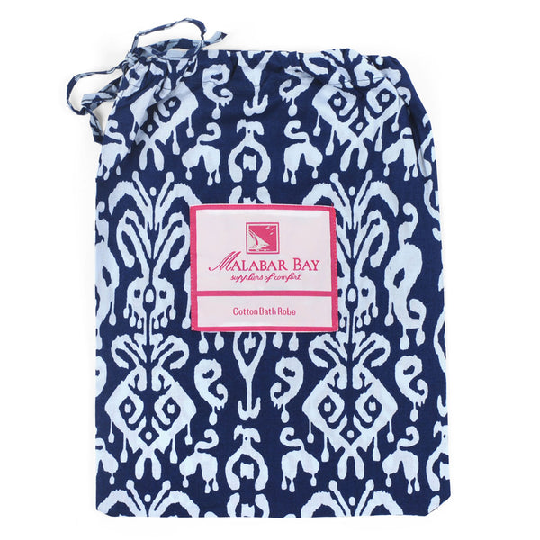 Ikat Navy Robe