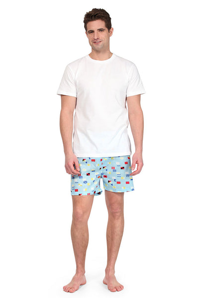 Nautical Flags Blue Men's Boxers