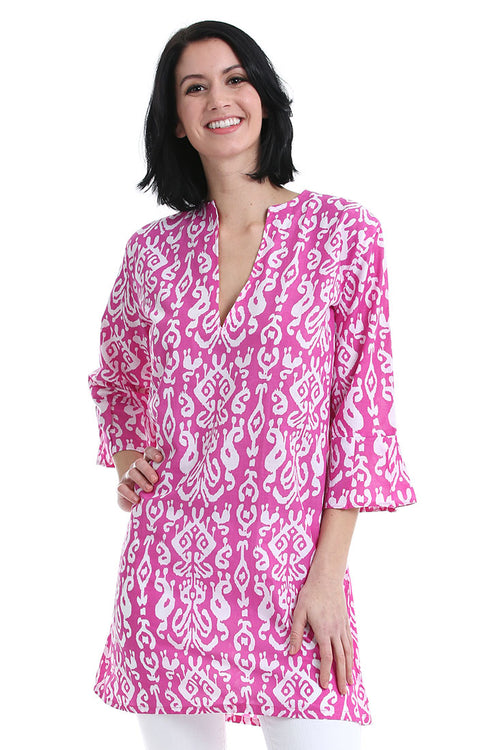 Ikat Pink Kaftan Cover Up