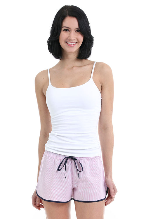 Ticking Stripe Pink Women's Boxer