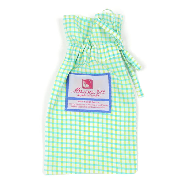Gingham Lime Men's Boxers