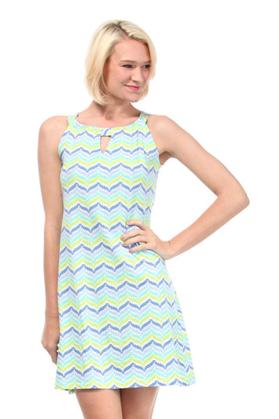 Zig Zag Blue Anywhere Dress
