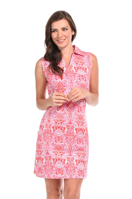 Alice Coral Bridgehampton Flare Dress