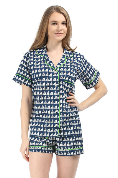 Annapolis Navy Summer Pajama Set
