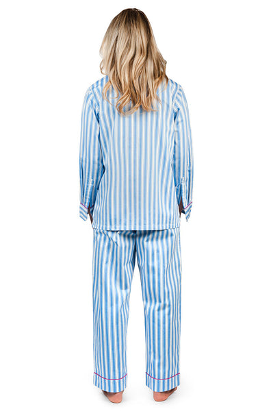 Fine Lines Women's Sateen Pajama Set