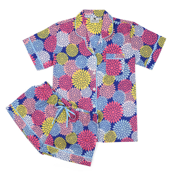 Floral Pop Navy Summer Pajama Set