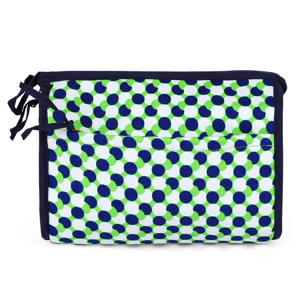 Mod Dots Green Cosmetic Case