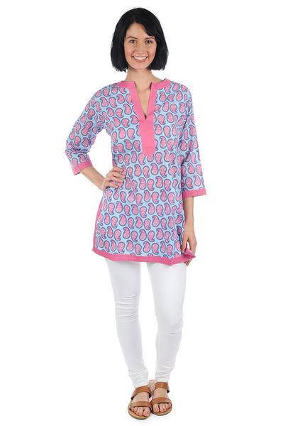 Persian Paisley Blue Kurta Tunic