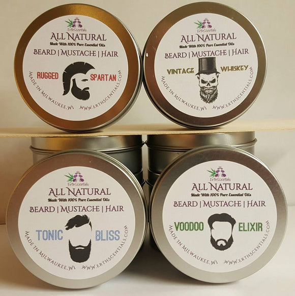 Ultimate Mens Beard Mustache Hair Gift Set - ErthScentials