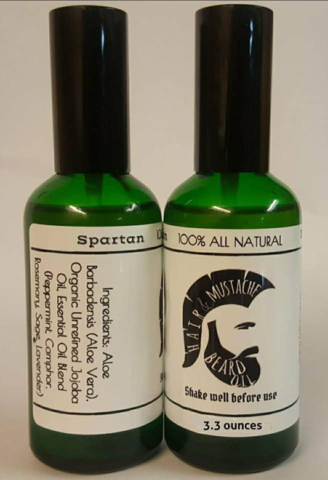HAIR MUSTACHE BEARD OIL - SPARTAN BLEND - ErthScentials
