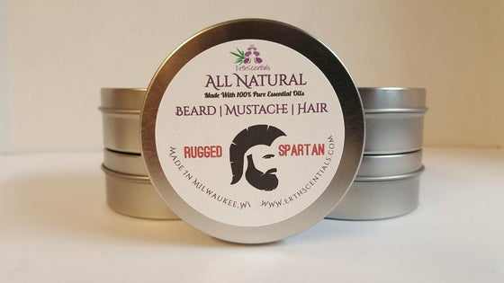 HAIR MUSTACHE BEARD BALM - RUGGED SPARTAN - ErthScentials