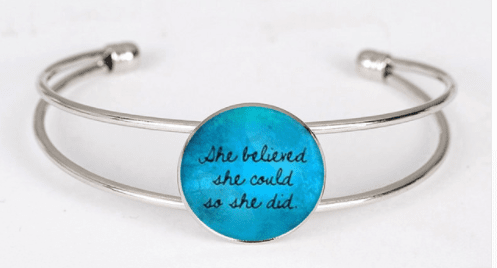 Inspirational Mantra Cuff Bracelet - ErthScentials