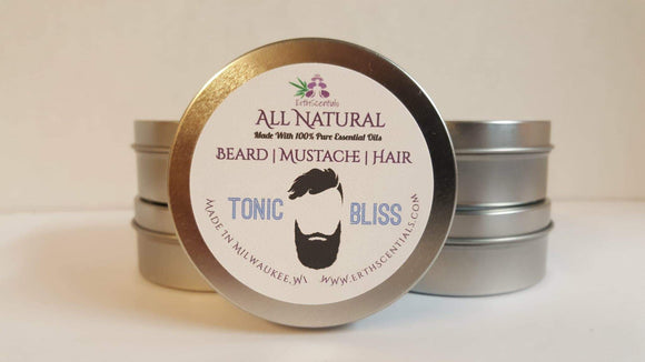HAIR MUSTACHE BEARD BALM - TONIC BLISS - ErthScentials