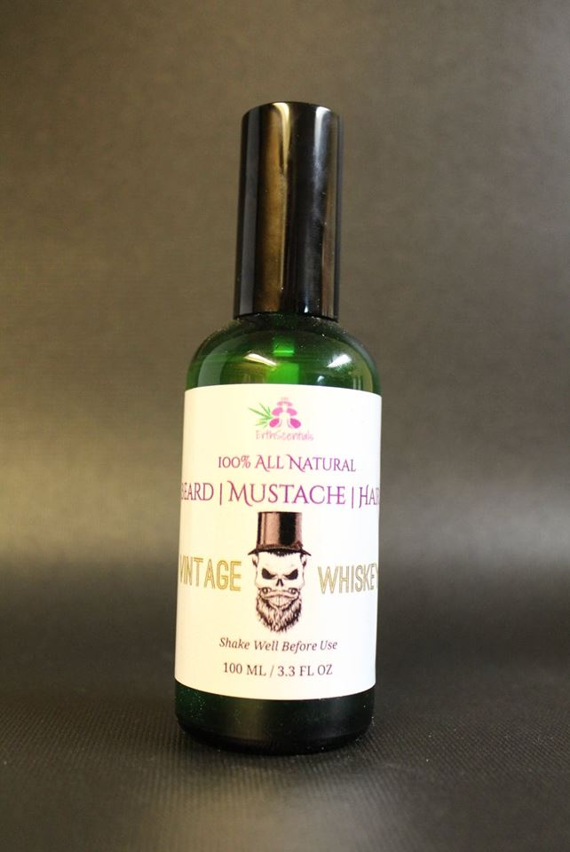 HAIR MUSTACHE BEARD OIL - Vintage Whiskey - ErthScentials