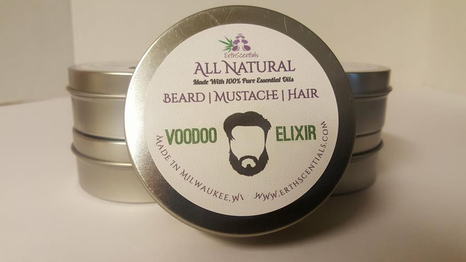 HAIR MUSTACHE BEARD BALM - VOODOO ELIXIR - ErthScentials