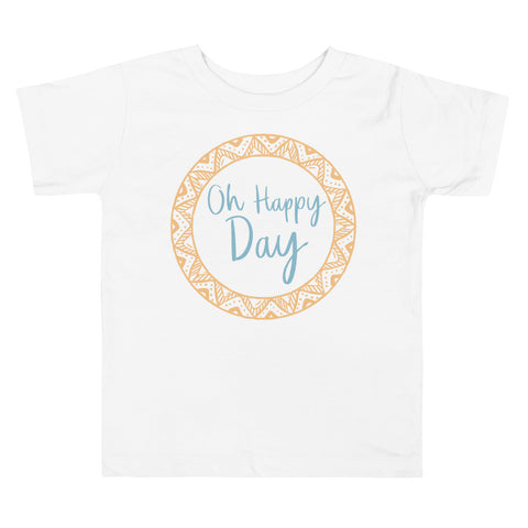 Oh Happy Day Blue Toddler T-Shirt