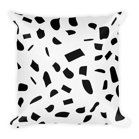 Black Little Shapes Premium Throw Pillow 18 X 18 Inches