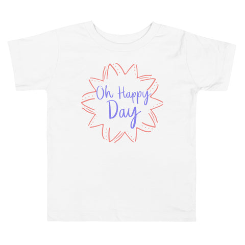 Oh Happy Day Pink Toddler T-Shirt
