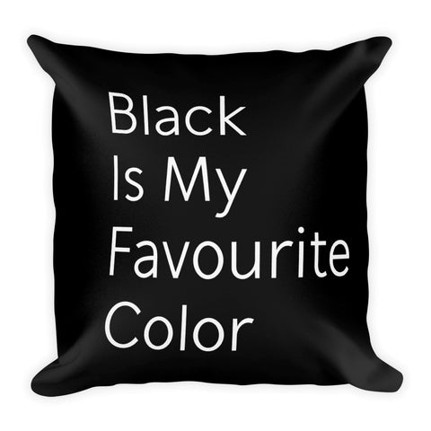 Black Color Premium Throw Pillow 18 X 18 Inches