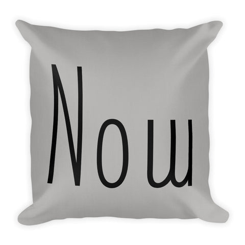 Now Premium Throw Pillow 18 x 18 Inches