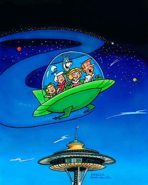 Jetsons over Seattle Space Needle