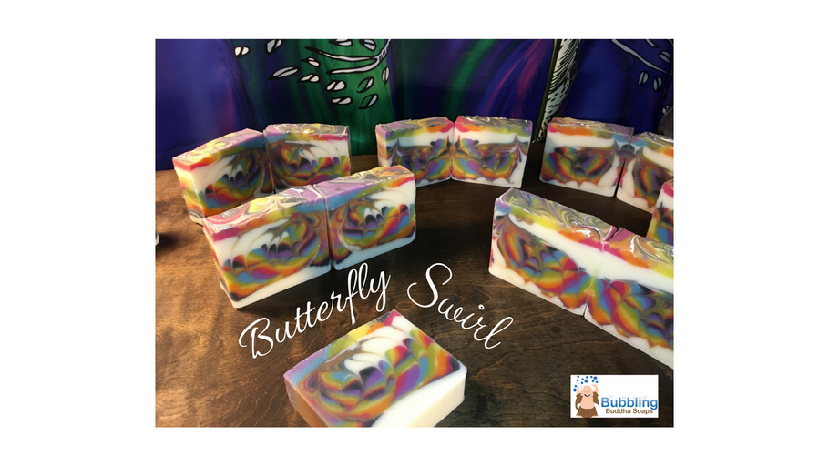 Cold Process Rainbow Butterfly Swirl