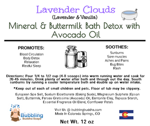 Mineral & Buttermilk Bath Detox with Avacado Oil