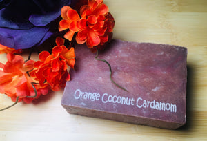 Orange Coconut Cardamom Scented Artisan Soap