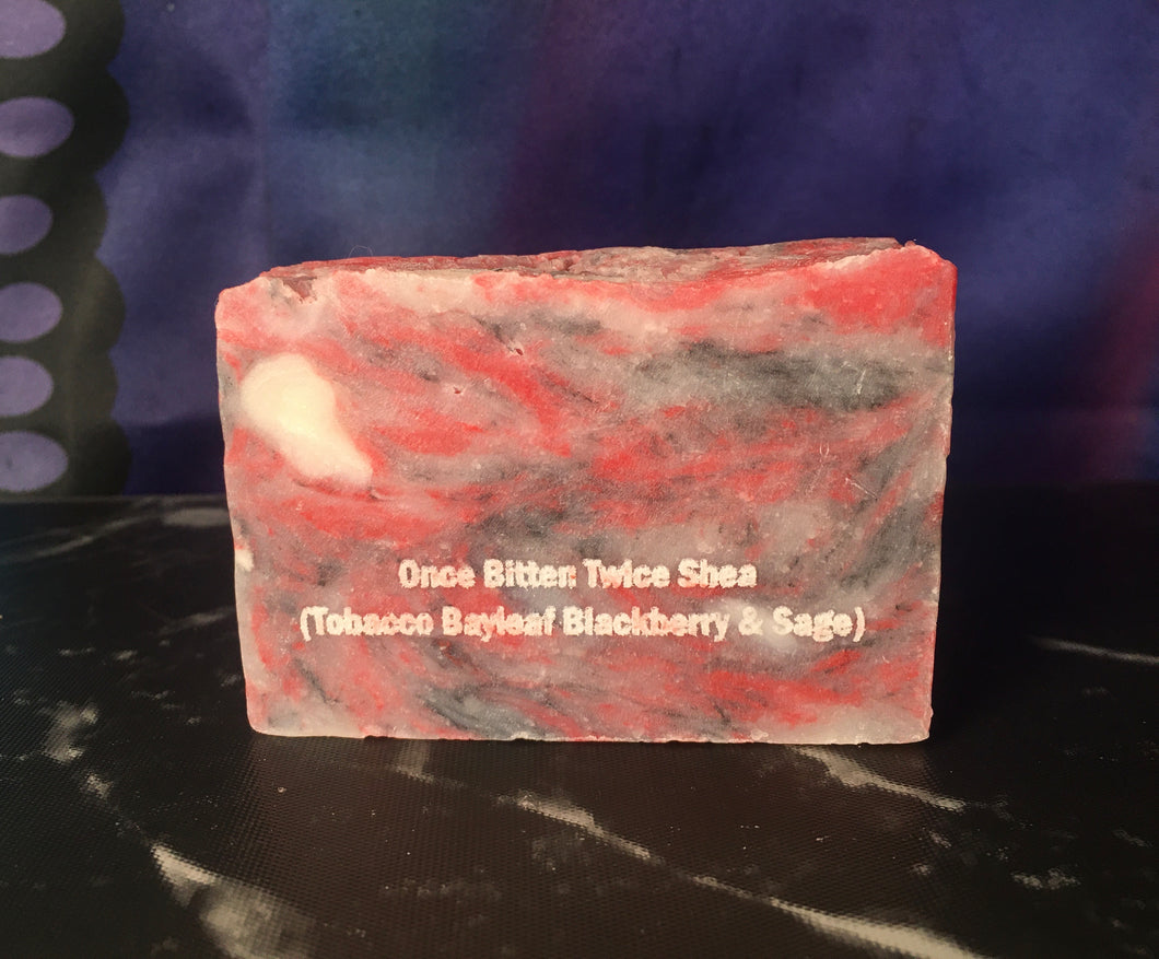 Once Bitten Twice Shea (Tobacco & Bay Leaf and Blackberry & Sage)- Artisan Soap