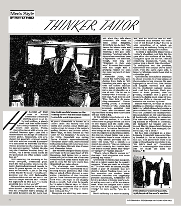 Men's Style; Thinker, Tailor