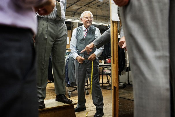 Holocaust survivor tailors an American success story