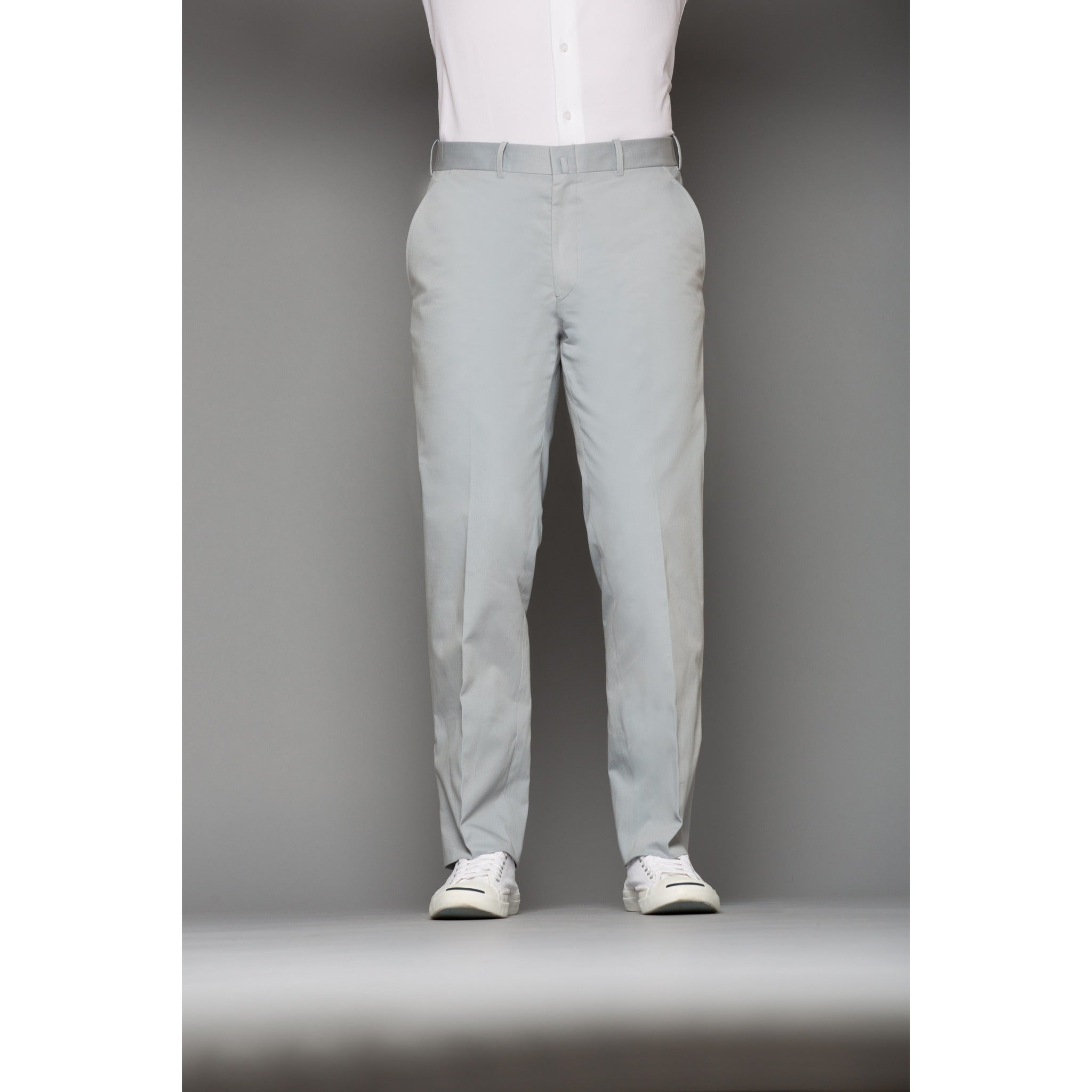 Sky Blue Cotton Trousers