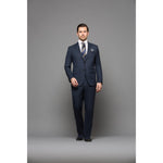 Chelsea Navy Sharkskin 2-Piece Suit