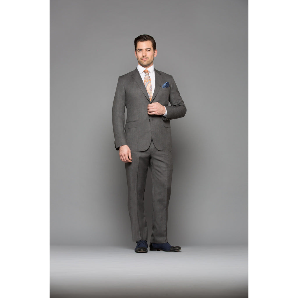 Chelsea Grey Sharkskin 2-Piece Suit