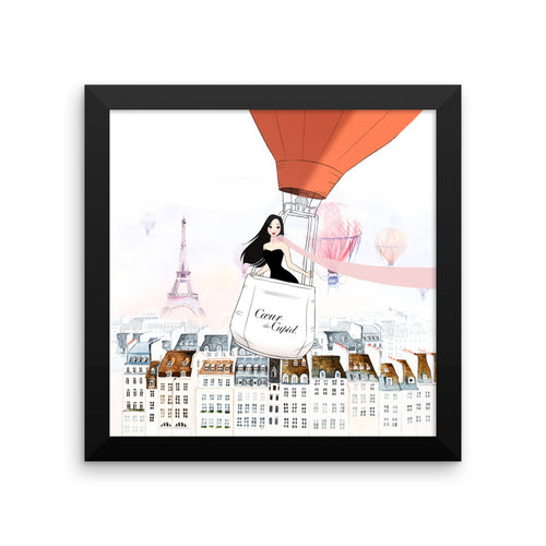 Cupid's Adventures Framed Satin Art Print