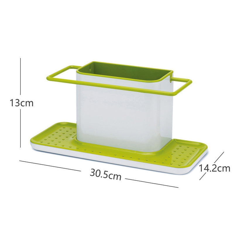 Creative Separated Plastic Shelves Multifunctional Kitchen Storage Organizer Finishing Shelf Bathroom Sponge Clean Accessories - carpemstore