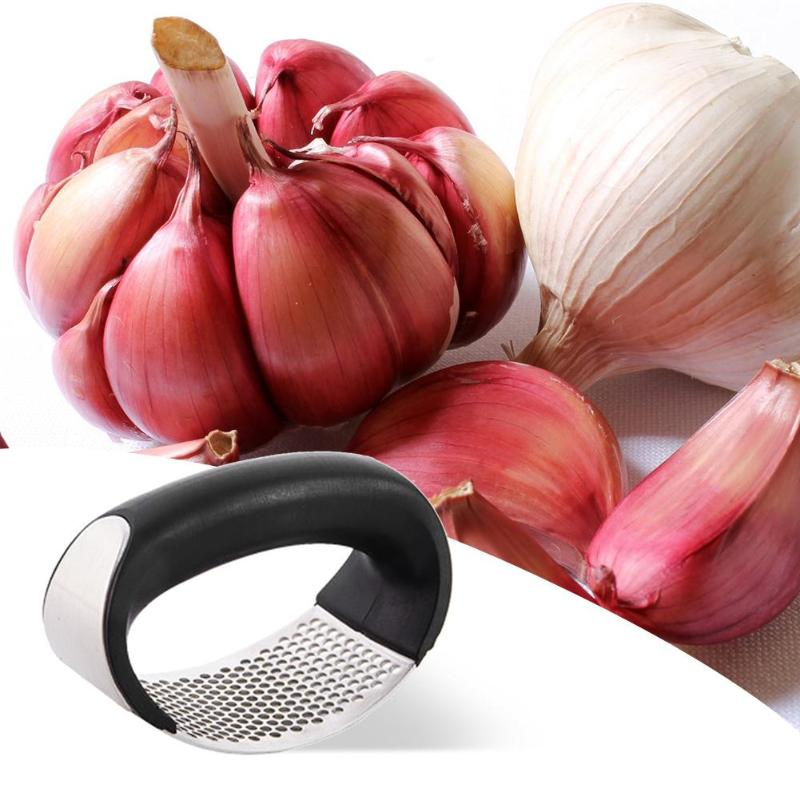 Multi-function Manual Garlic Presser Curved Garlic Grinding Slicer Chopper Stainless Steel Garlic Presses Cooking Gadgets Tool - carpemstore