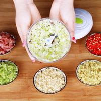 Multifunction High Quality New High Speedy Design Vegetable Fruit Twist Shredder Manual Meat Grinder Chopper Garlic Cutter - carpemstore