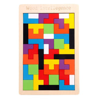 Puzzles Magic Tangram children wooden educational Game lol Hobby child Jigsaw Tetris Cubes Puzzles kids toy children boys girls - carpemstore