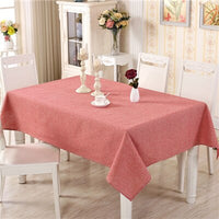 Cotton Modern Table Cover Simple Plain Tablecloth Tea Table Cloth Dining Tablecloths Rectangular Table-cloth Tafelkleed For Home - carpemstore
