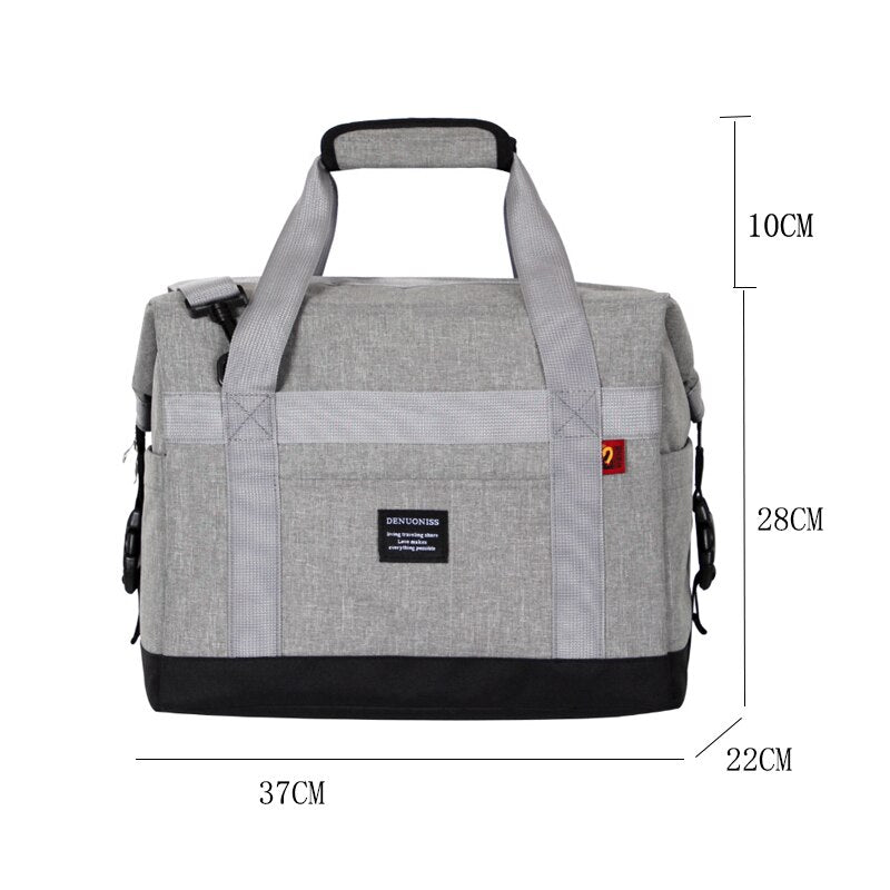 Waterproof Large Cooler Bag Shoulder Big Thermal Bags Portable Food Packing Container Lunch Bag Ica Pack Delivery Bags - carpemstore