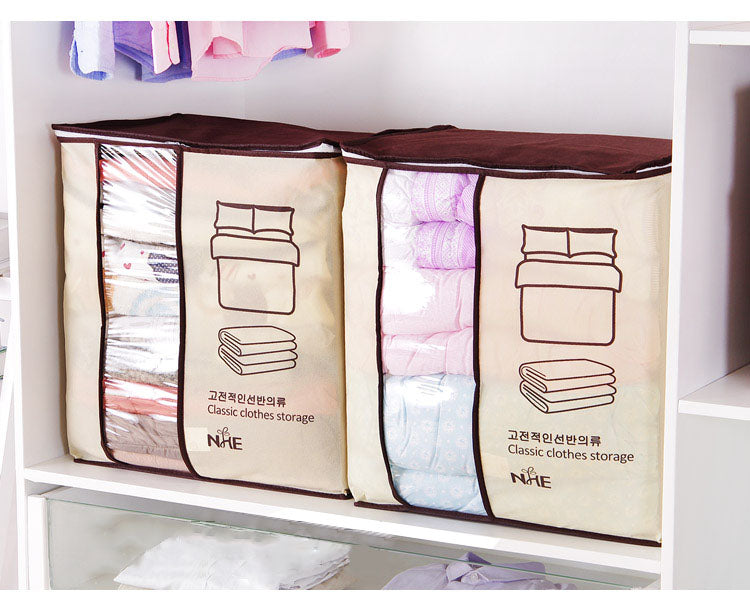 Non-Woven Family Save Space Organizer Bed Under Closet Storage Box Clothes Divider Organiser - carpemstore