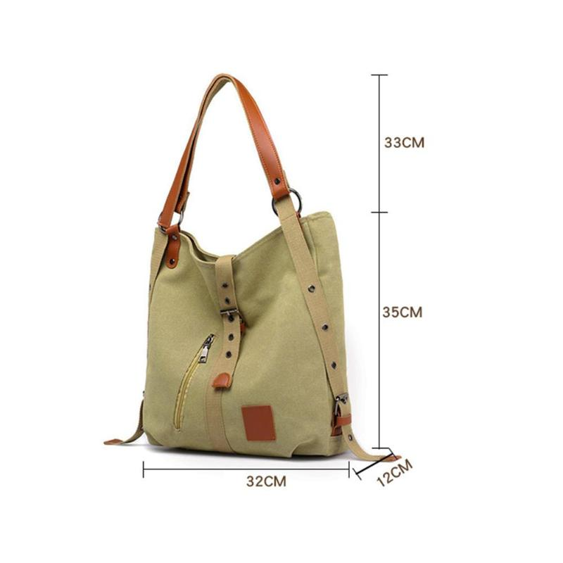 Large Capacity Women Canvas Tote Ladies Shoulder Bag Mochila Reusable Shopping Beach Bags - carpemstore