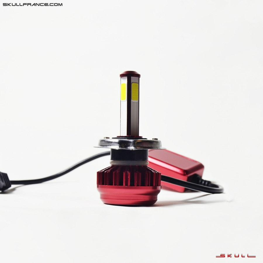 Ampoule Ventilée LED SKULL RED Mini