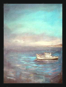 View from the Wharf, Monterey / oil on canvas