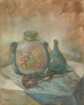 Two Pots with Rose