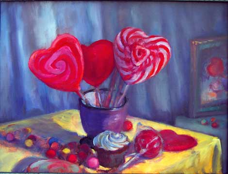 Wild Cherry Hearts, Cupcake and Art